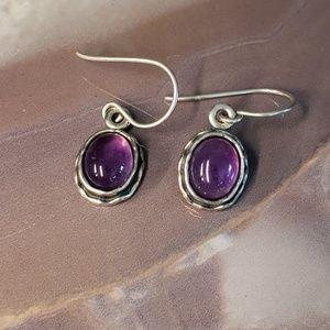 Silpada Amethyst earrings